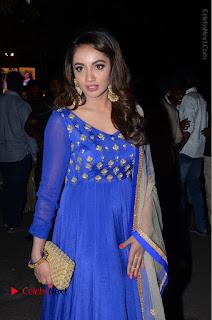 Telugu Actress Tejaswi Madivada Pos in Blue Long Dress at Nanna Nenu Na Boyfriends Audio Launch  0085.JPG