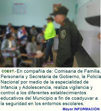 La Policía Nacional fortalece instituciones educativas en el Municipio de Fusagasugá.
