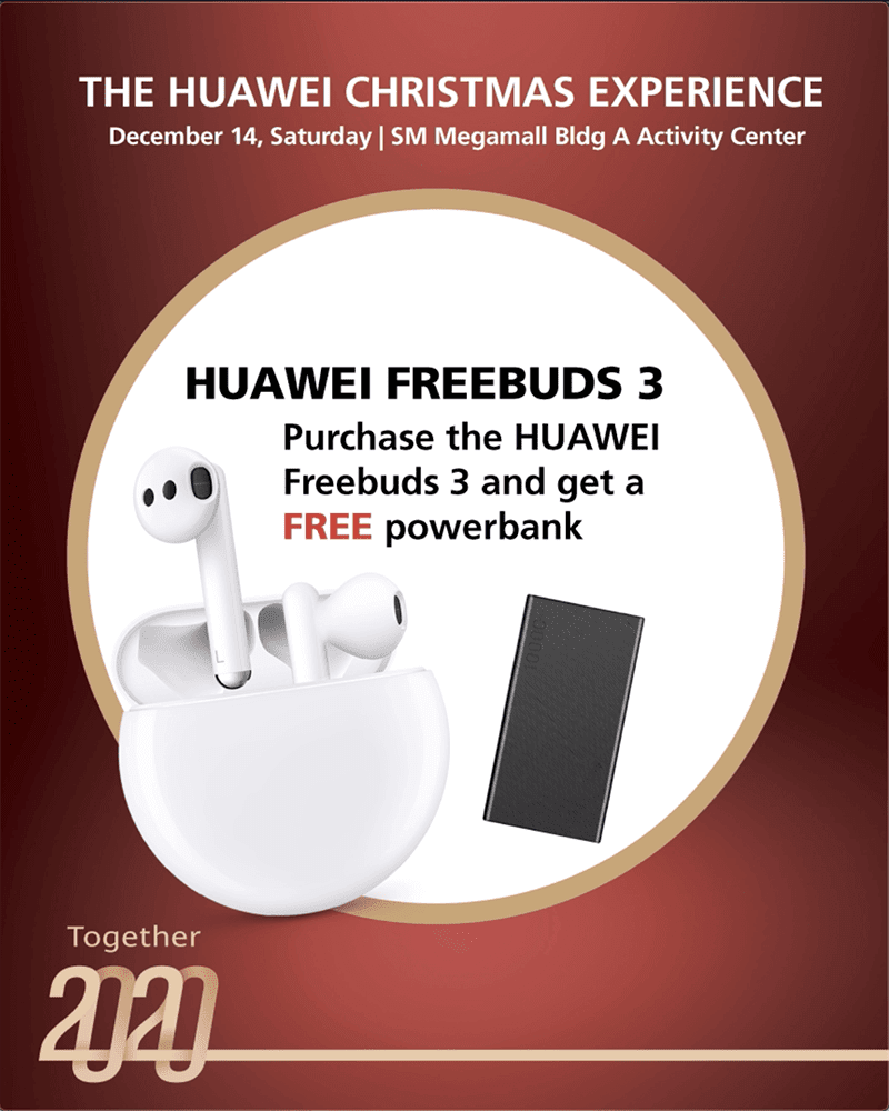 Huawei FreeBuds 3 with FREE power bank