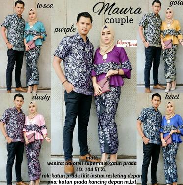 grosir baju batik muslim modern