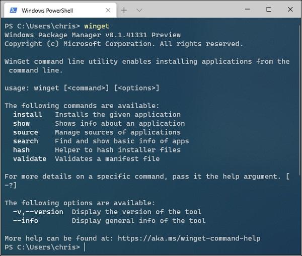 كيفية استخدام وتثبيت برنامج Winget Package Manager الجديد في ويندوز 10