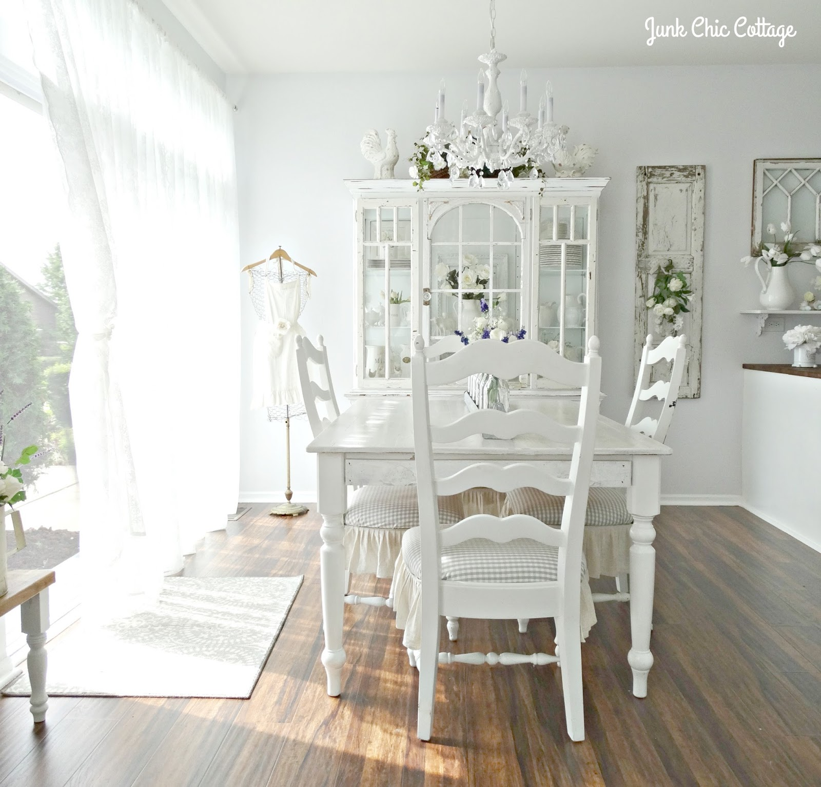 Cottage Dining Room: Junk Chic Cottage: Dining Room Reveal