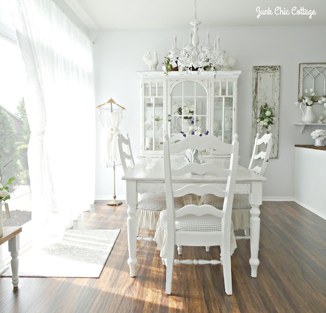 Cottage Dining Rooms: Junk Chic Cottage: Dining Room Reveal