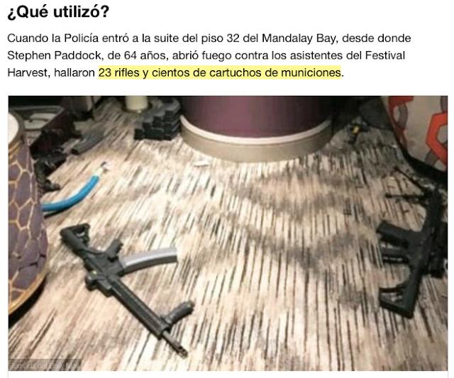 """ASÍ SON LAS """"ARMAS de PADDOCK"""",el TERRIBLE ARSENAL MODIFICADO"""