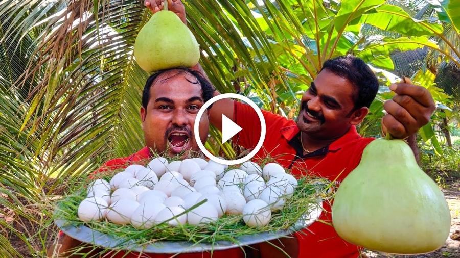 Thailand Style Bottle Gourd Inside Egg | Sorakkai Egg Curry Village Style Cooking | World Food Tube