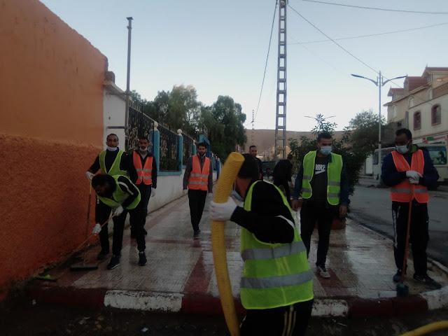 حملة نظافة واسعة بعنوان معا من اجل مدينة قصر الشلالة