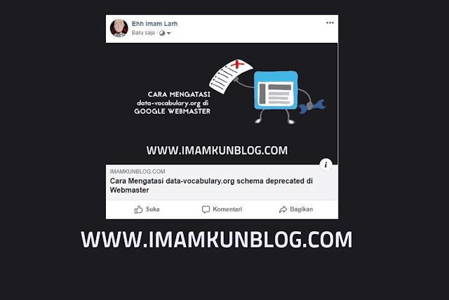 Cara Menampilkan Gambar Artikel Blog di Facebook Saat di Share