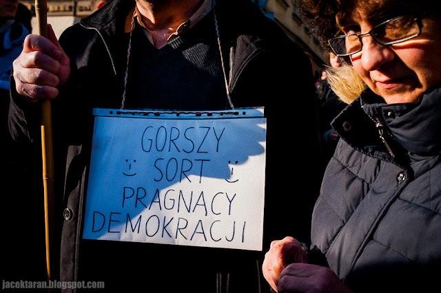 Krakow, demonstracja w obronie demokracji