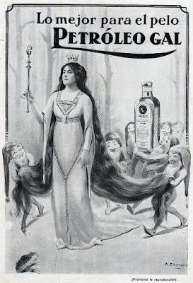 Laboratorios Gal anuncio antiguo petróleo para el pelo