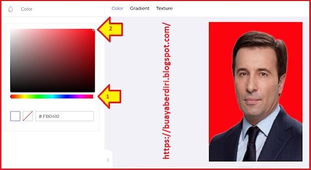 Cara ubah background foto menjadi  warna merah