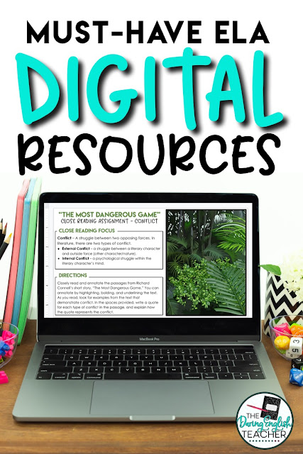 Digital short story unit for middle school ELA and high school English