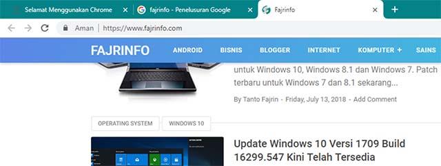Google Chrome Hadir Dengan Tampilan Material Design