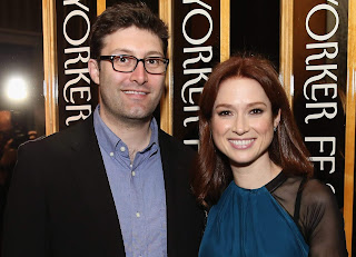 Michael Koman with his wife Ellie Kemper