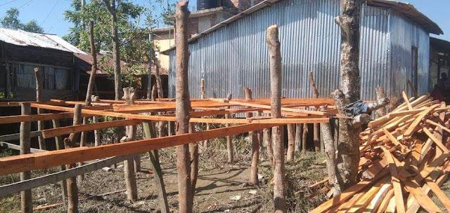 কলাপাড়ায়  জমি দখল করে বিক্রির অভিযােগ