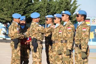 103 Prajurit TNI Kontingen Garuda Unifil Naik Pangkat di Lebanon