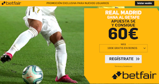 betfair supercuota liga Real Madrid gana Getafe 4 enero 2020