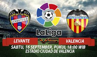 Prediksi Levante vs Valencia 16 September 2017