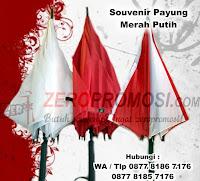 payung promosi HUT RI, payung 17an, Souvenir di Perayaan HUT RI, grosir payung murah, payung warna merah putih dengan harga terjangkau