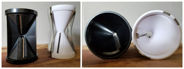 Side to side comparison of Vegetti and Spiralife Original Vegetable Spiralizer