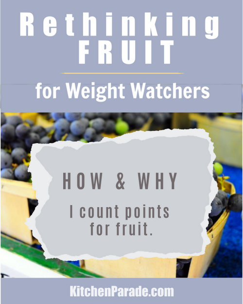 Rethinking Fruit for Weight Watchers ♥ KitchenParade.com. Weight Watchers Works but free fruit doesn't work for everyone. How & why to count fruit points with SmartPoints. If your weight loss journey is stalled, fruit might be the culprit. How to think about fruit and losing weight.