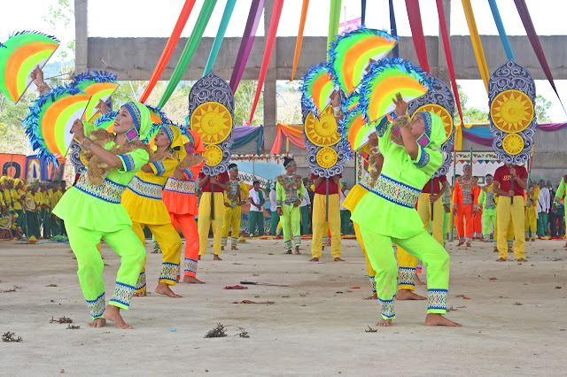 street performers perform during Agal-Agal Festival