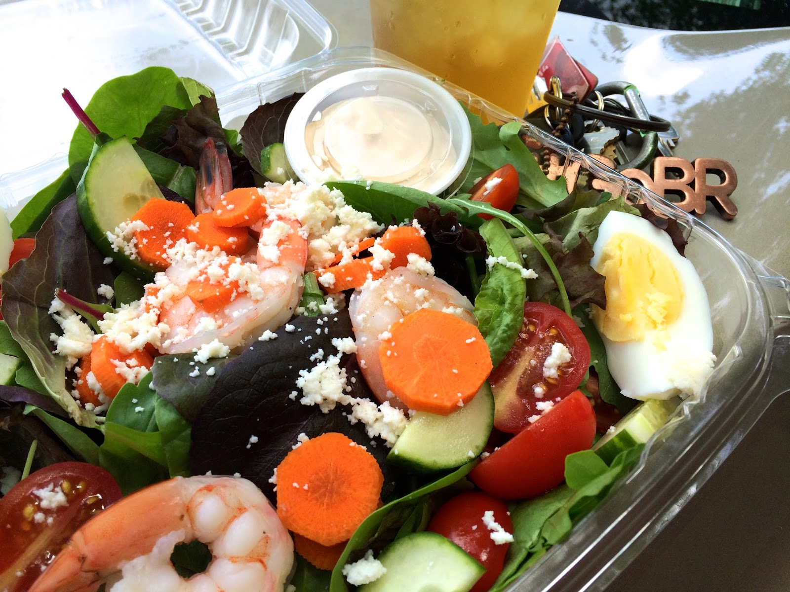 The Pronto Truck's Baja Shrimp Cob Salad