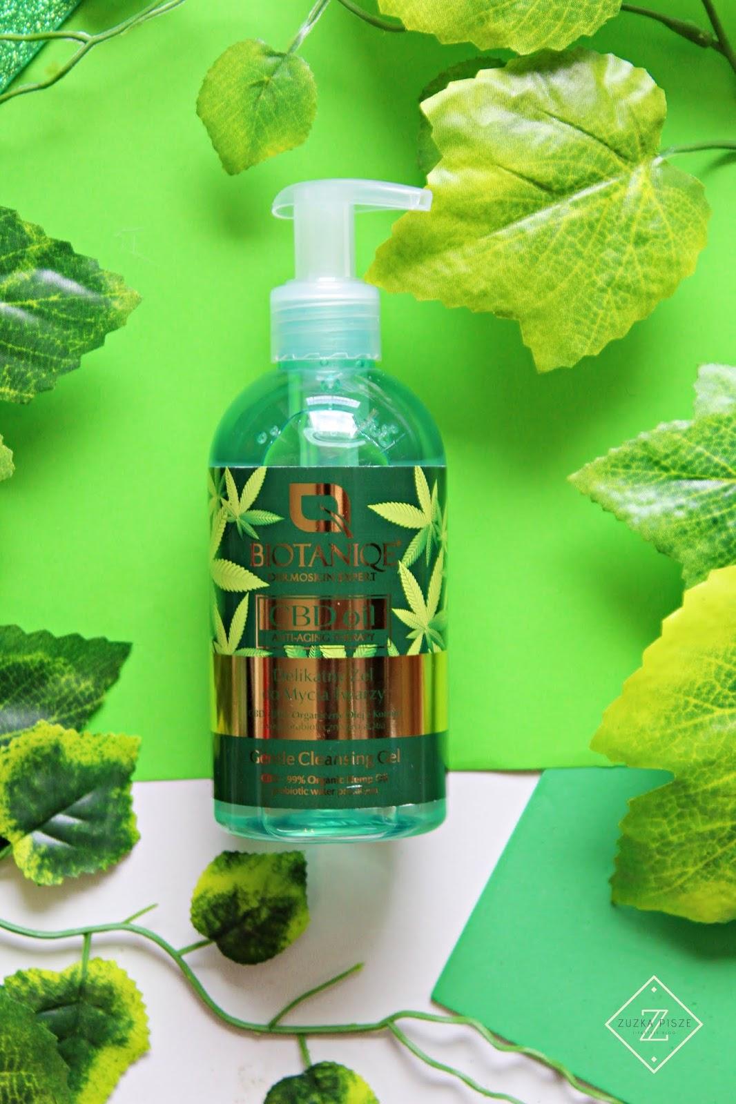 BIOTANIQE CBD OIL ANTI-AGING THERAPY - delikatny żel do mycia twarzy