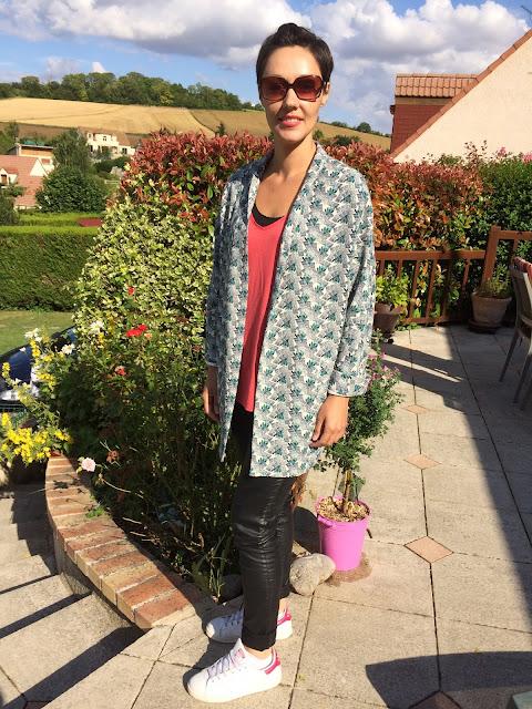 Look mode Promod - veste à motif fleuri