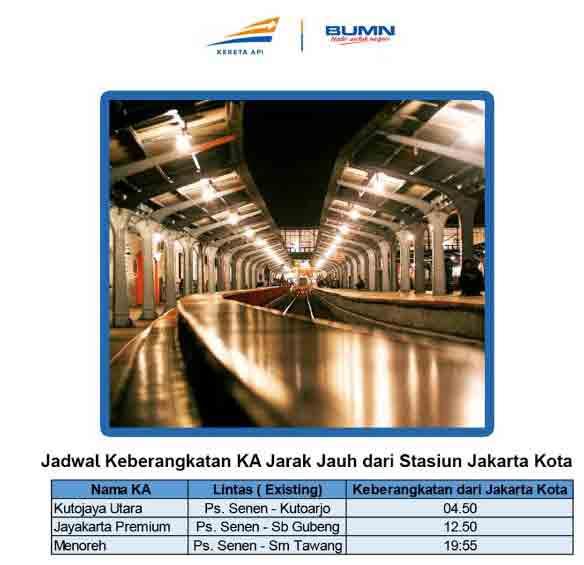 Jadwal KA Stasiun Jakarta Kota