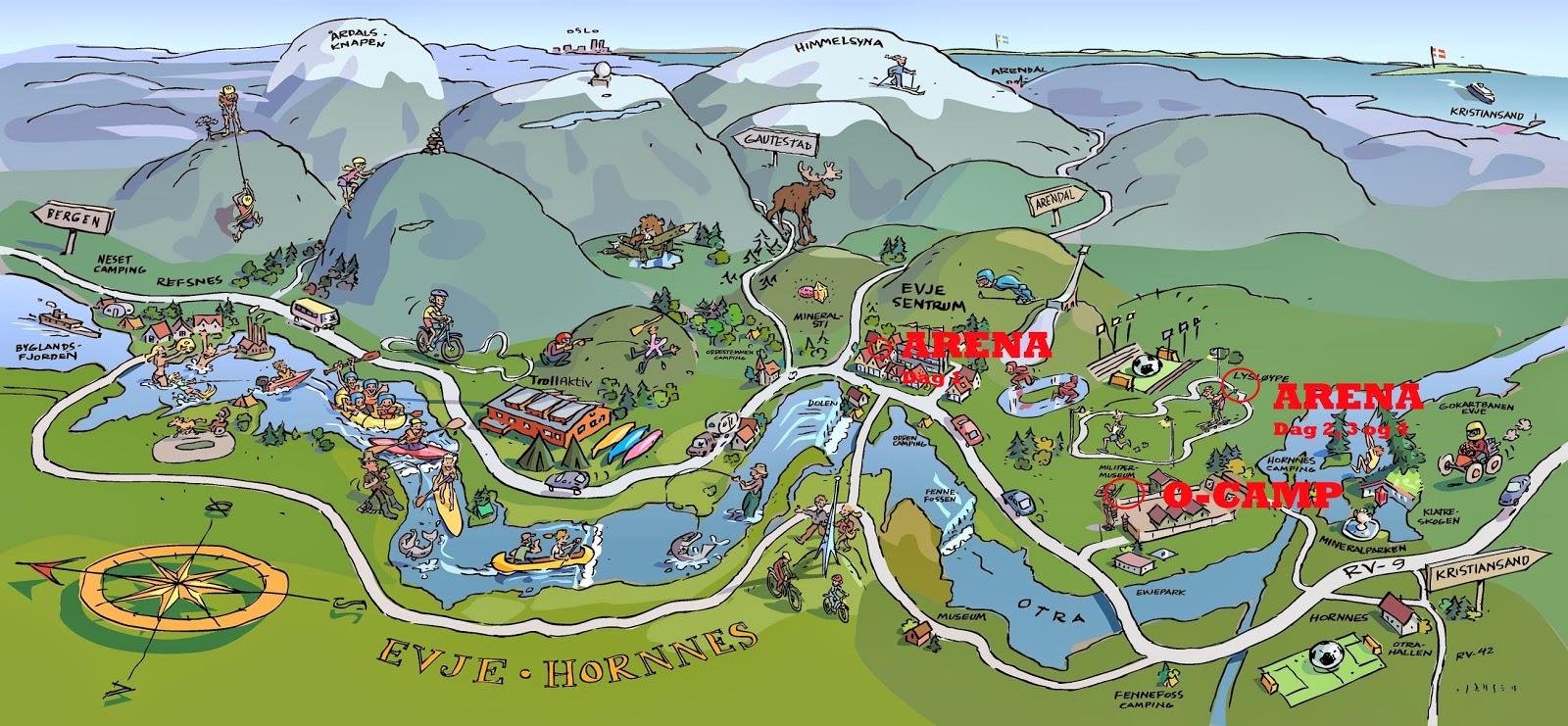 kart med bilder Sørlandsgaloppen 2014: Kart og bilder kart med bilder