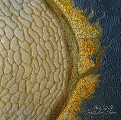 Ein kleiner textiler Wandbehang von Jacqueline Heinz Wolfenbüttel