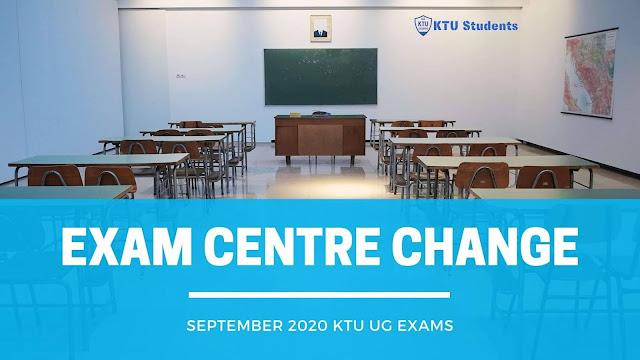 ktu 2020 exam centre change request