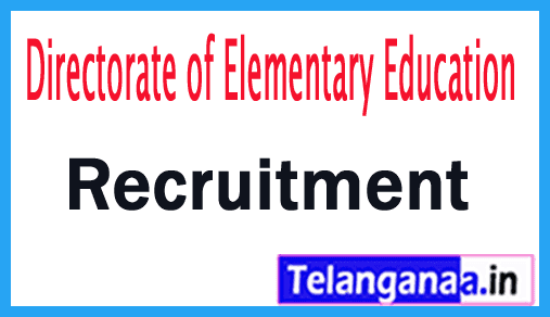 Directorate of Elementary Education DEE Recruitment