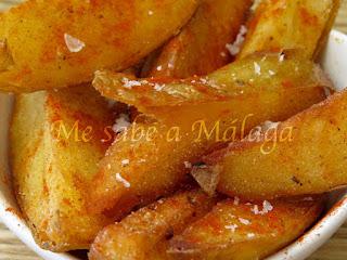 receta de patatas fritas en gajos