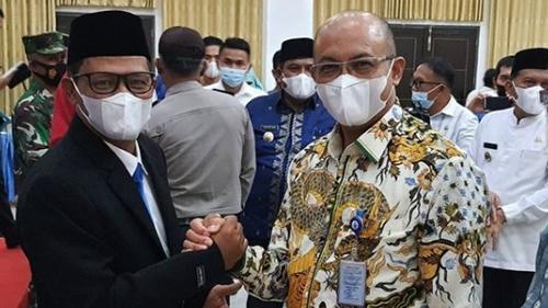 Hendra Pebrizal Hadiri Pelantikan Direktur PDAM Padang Pariaman
