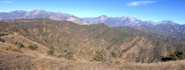 View northeast from the north ridge of Summit 3397, Angeles National Forest