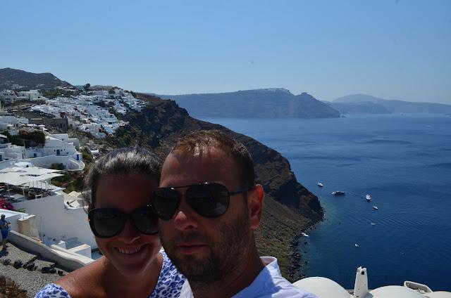 Christian Gutierrez e Priscila Gutierrez na Ilha de Santorini