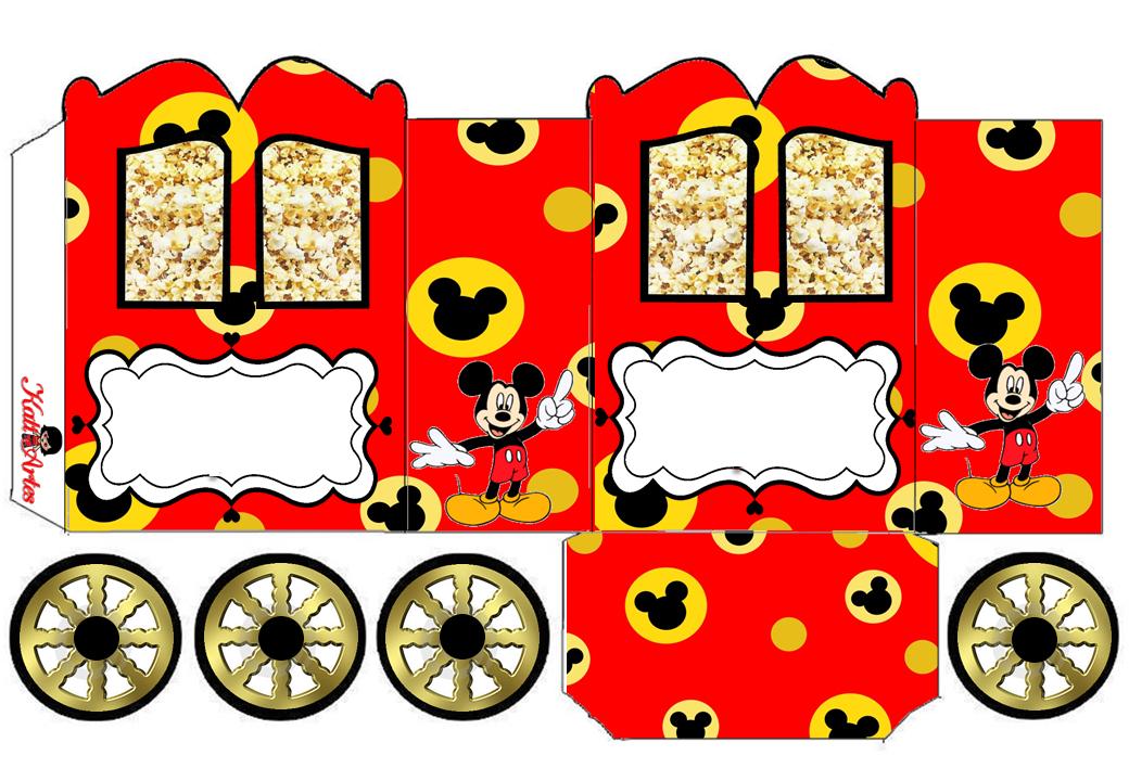 Mickey Mouse: Princess Carriage Shaped Free Printable Box.