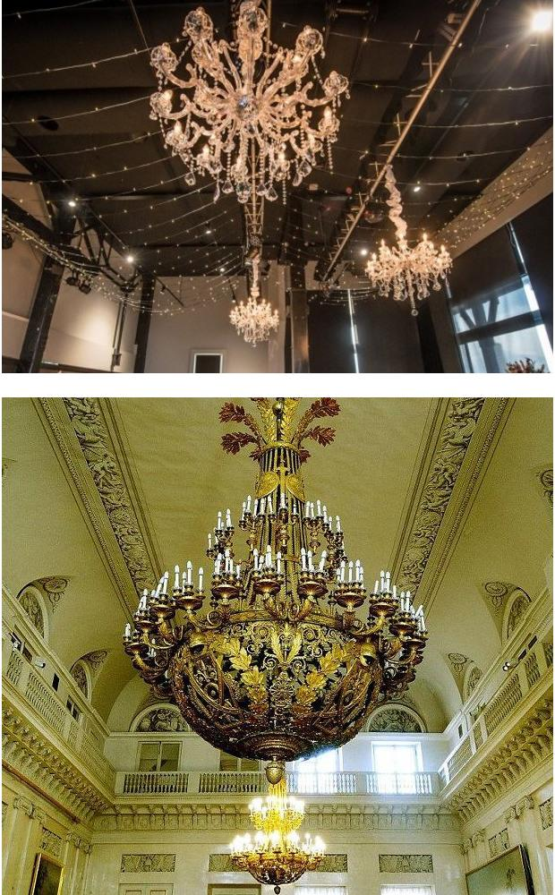Huge and heavy chandelier installation in GTA