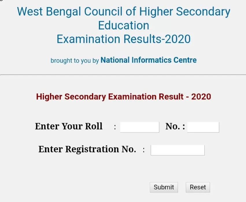 West Bengal HS Results 2021 Release at @wbchse.nic.in