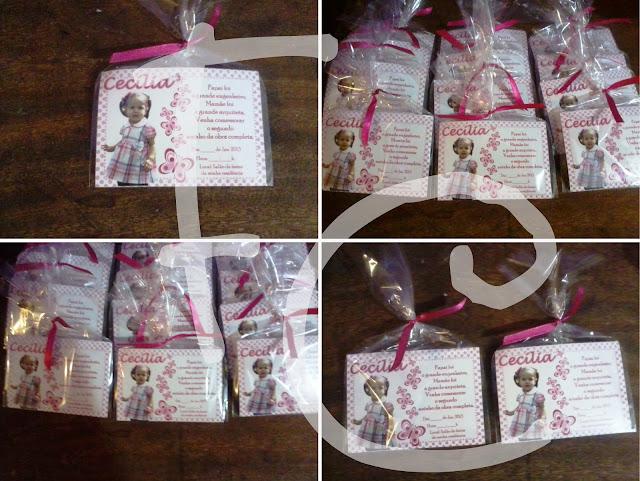 Convite Padrão 10X7 cm - Tema Borboletas Rosa e Branca