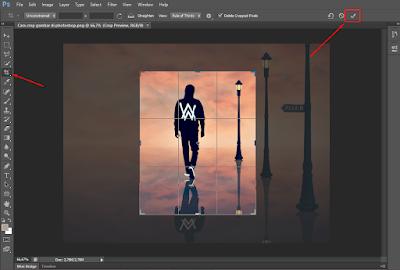 Cara Praktis Memotong (Crop) Gambar di Photoshop 8