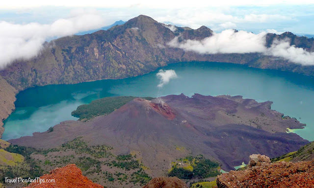 Volcano view, Trekking mount Rinjani Indonesia