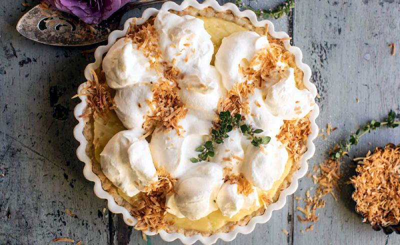 Lemon Sugar Coconut Cream Pie