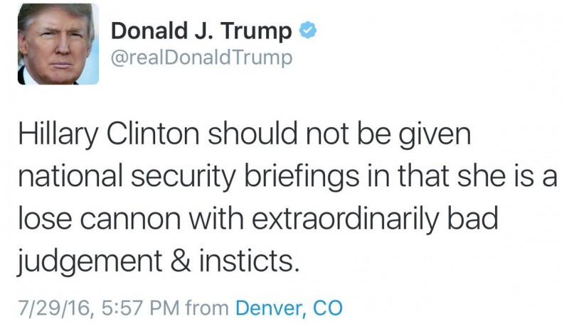 Kicauan salah tulis Donald Trump di Twitter