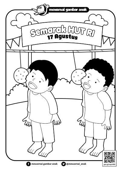 Sketsa Lomba Mewarnai 17 Agustus Rimawaso