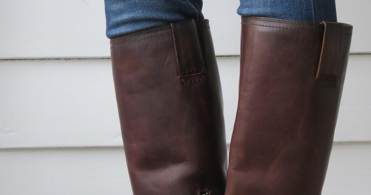 Howdy Slim! Riding Boots for Thin Calves: Frye Jenna Inside Zip