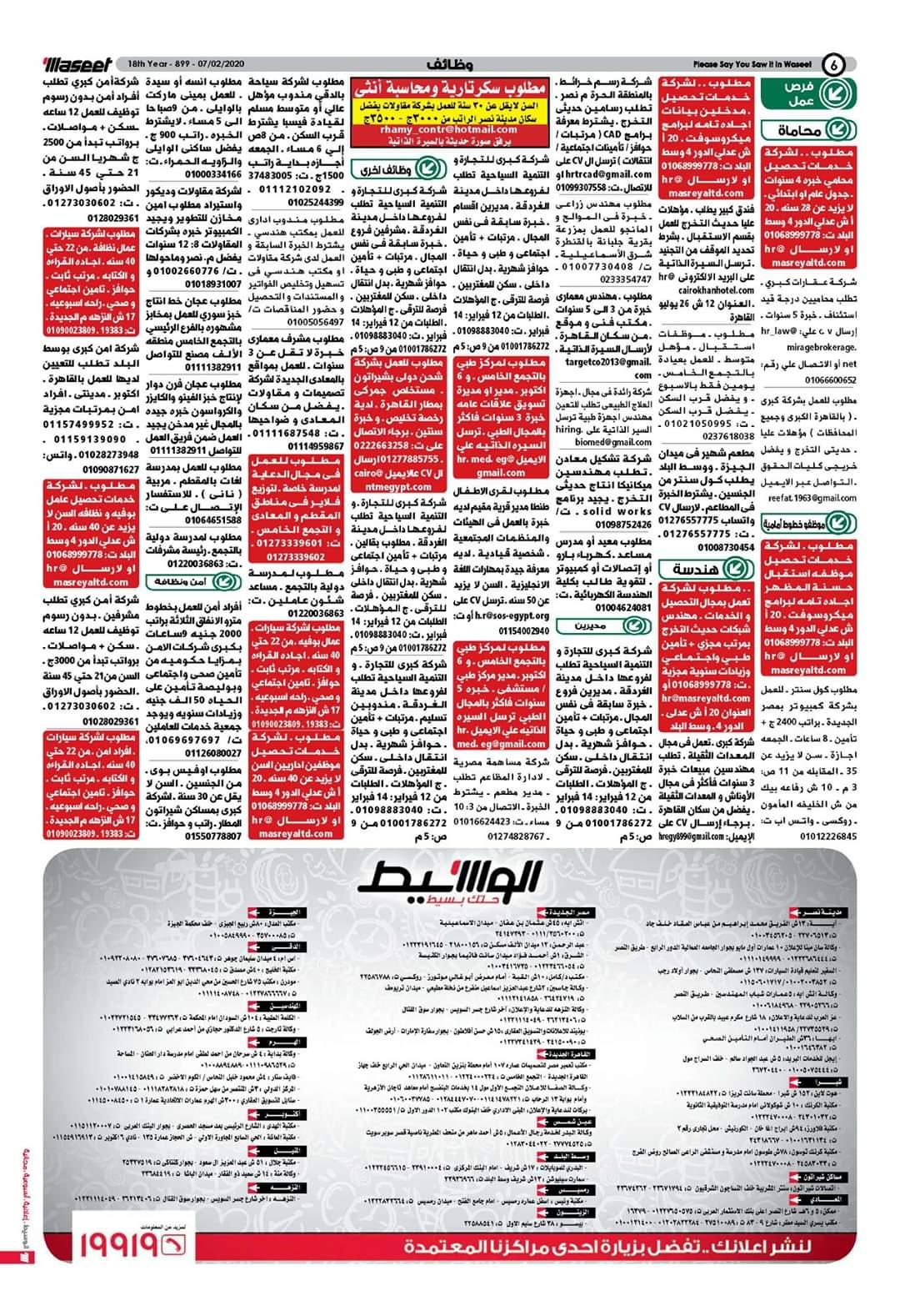 الوسيط وظائف واعلانات الوسيط الجمعة 7 فبراير 2020