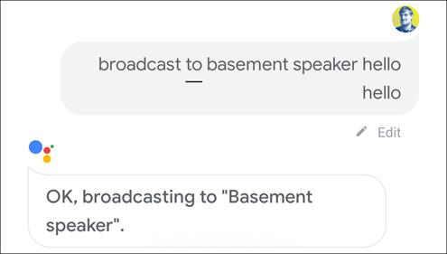 البث إلى المتحدث