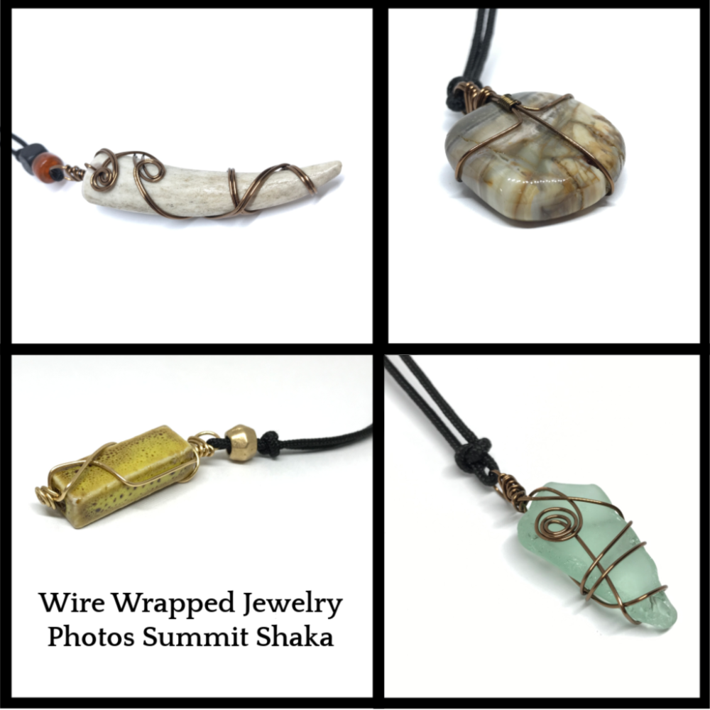 Wire Wrapped Antler Jewelry Summit Shaka